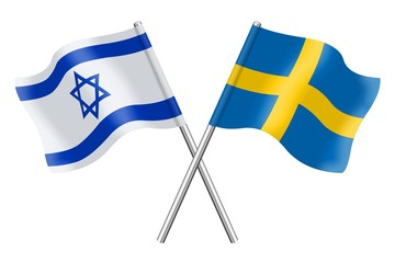 Flags: Israel and Sweden