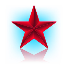 illustration of red star