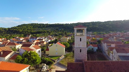 aerial footage of village in Croatia