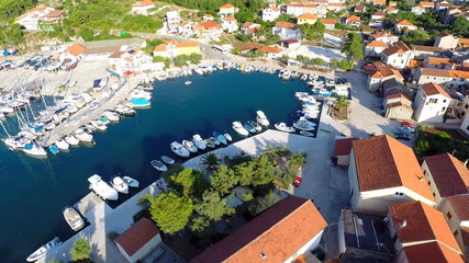 Aerial footage of beautiful harbour