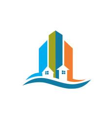 Real estate card vector logo