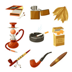 Tobacco Icons Set