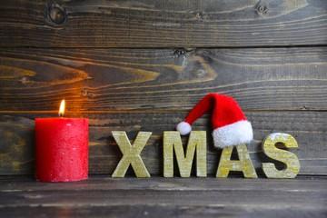 Weihnachtskarte - XMAS mit Mütze
