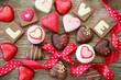 Love- Pralinen mit Herz