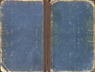 Old blue shabby book cover