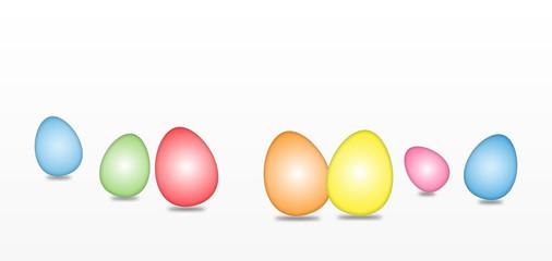 Easter Eggs - Light Color Gradient Effect