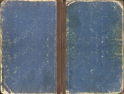Old blue shabby book cover - 80403101