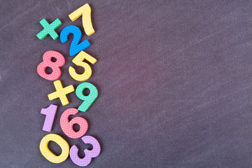 Cute number colorful set.