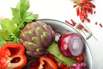 vegetali rossi nel colapaste