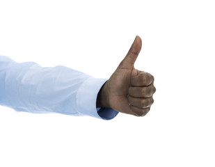 African woman with Thumbs up