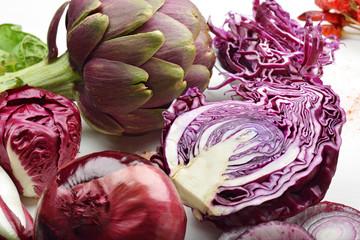 cavolo e vegetali rossi