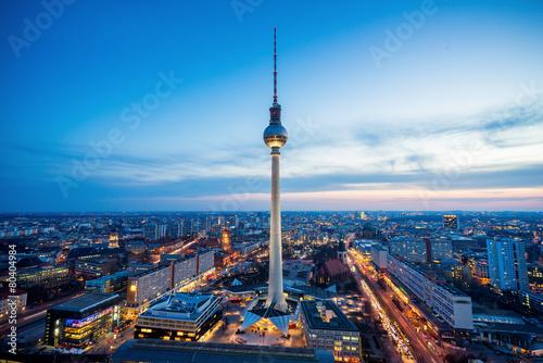Fotobehang Berlijn Fernsehturm Berlin