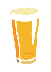 Vector image of beer glass