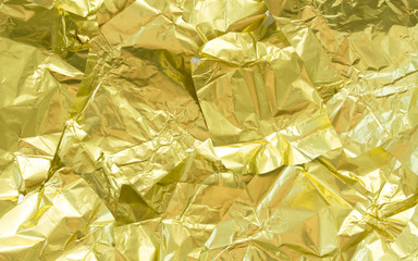 yellow leaf gold foil texture background