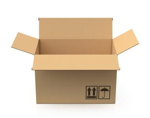 Carton isolated on white