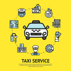 Taxi Service Illustration