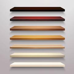 Wooden Shelves Set