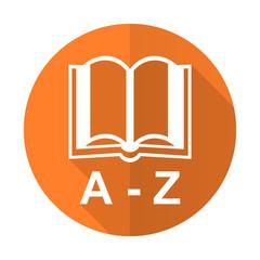 dictionary orange flat icon