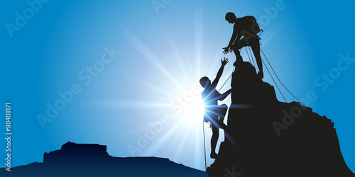 Alpiniste escalade