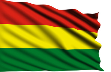 Bolivia flag with fabric structure