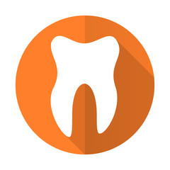 tooth orange flat icon