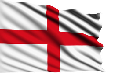 England flag with fabric structure