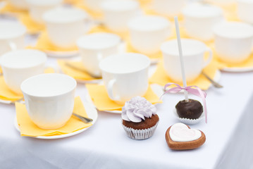 Served festive table - candy bar