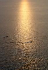 reflection of sunlight on the sea sunset