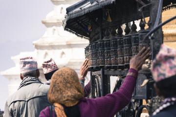 Prayer Wheels at Swayambhu, Kathmandu, Nepal