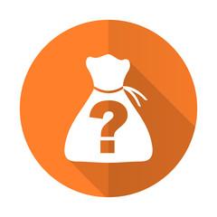 riddle orange flat icon