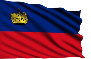 Liechtenstein flag with fabric structure
