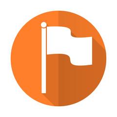 flag orange flat icon