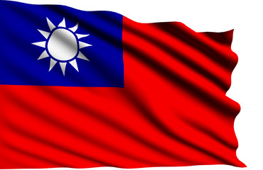 Taiwan flag with fabric structure