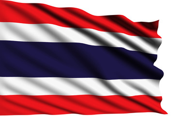 Thailand flag with fabric structure