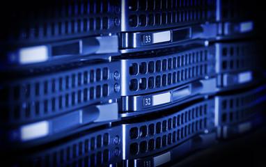 Hard drives in data center.