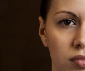 Half woman's face