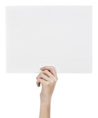 Child holding white board