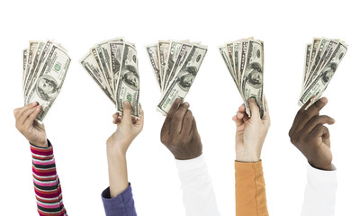 People holding dollars