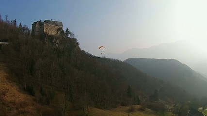 Paragliding in the Mountains from Austria