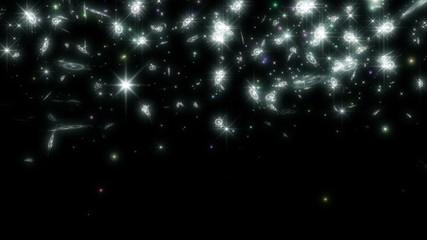 上昇する輝く結晶