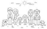 Fototapety Big happy family