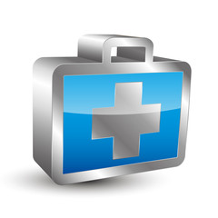 First Aid Kit 3D Icon