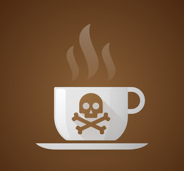 Coffee cup with a skull