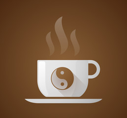 Coffee cup with a ying yang