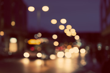 Artistic style - blurred urban abstract traffic background