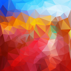 vector polygonal background triangular fire colors