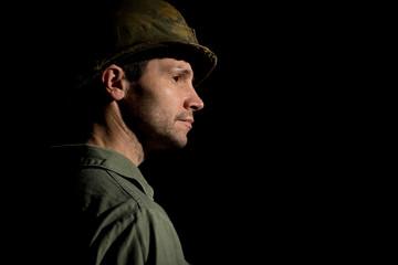 Vietnam War Period GI In Profile