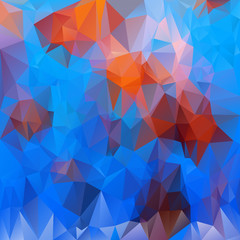 vector polygonal background - triangular undersea life colors