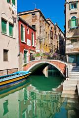 Il ponte della chiesa a Venezia
