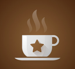 Coffee cup with a star